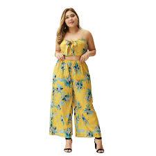 <b>2019</b> Bohemian floral print sling sling top loose waist wide-legged ...