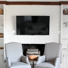 Hide Tv In Wall Hiding Cord On Wall Mount For Flat Screen Tv Diy Mantel Julie