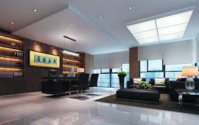 chinese ceo office with black furniture ceo office