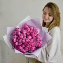 <b>Букет из пионовидных роз</b> купить в Екатеринбурге с доставкой