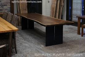wood slab dining table beautiful: black walnut live edge dining table shipped to kendall jackson winery california from chicago