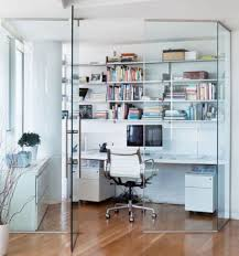 chic home office decor:  feminine home office  feminine home office tropical desc conference chair gray cube bookcases white glass filing cabinets stackable decorative desk lamps wastebaskets