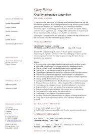 quality assurance cv test engineer cv resume format for quality engineer