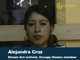 "Click on Photo to Hear Interview with Alejandra Cruz · ""This is the first time that I can publicly state that I'm undocumented and not be afraid of saying ... - AlejandraCruzDreamAct524-19-300x225"