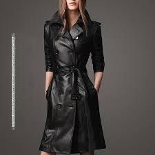 <b>2018</b> Women Sheepskin PU Leather Jacket Belt <b>Gothic</b> Black ...