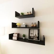 <b>3 Black MDF U-shaped</b> Floating Wall... - Umar Wood Works ...
