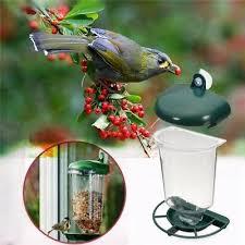 <b>Automatic Window Wild Bird</b> Feeder Seeds Feed Hanging Suction ...