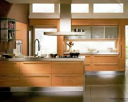 beech wood kitchen cabinets: italian designed scavolini kitchen with white granite and beech wood upper cabinets in frosted glass