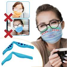 Reusable Face Mask <b>Anti</b>-<b>Fog Nose</b> Clip <b>Prevent</b> Glasses From ...