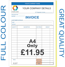 pre printed invoice books invoice template ideas personalised invoice book business office amp industrial pre printed invoice books