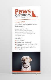 design work paws on floors dog walking logo promotion