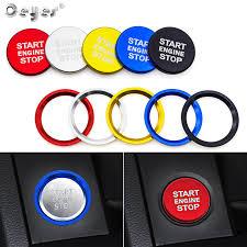 Ceyes Auto Engine Start Button Switch Key Ring <b>Car Styling Case</b> ...