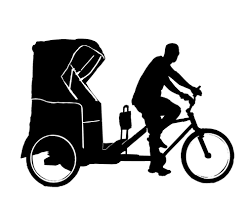 Image result for pedicab drawing