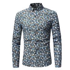 Small <b>Flower Floral Shirt Men</b> 2018 Brand New Slim Long Sleeve ...