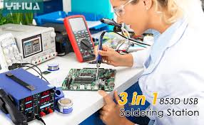 <b>YiHua Soldering</b> Station 4 in 1 <b>853D</b> USB 2A Rework Station Hot Air ...