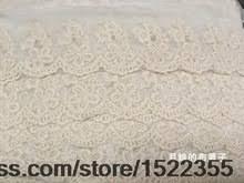 <b>Exquisite</b> embroidery mesh lace white cotton accessories 6cm wide ...