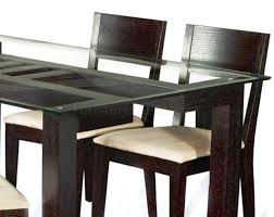 glass base dining table