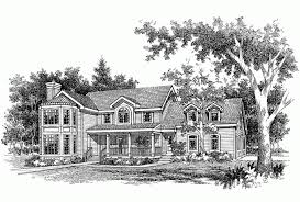 Eplans Country House Plan   Six Rooms   Panoramic Views      Front