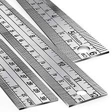 stainless steel ruler measure metric function 30cm 12inch