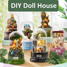 <b>Rotating</b> Music <b>Box DIY</b> Dolls House Luminous Dollhouse Musical ...