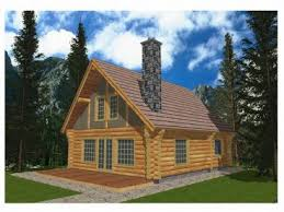 Log House Plans   The House Plan ShopLog Cabin House Plan  L
