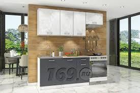 <b>Кухонный гарнитур Бланка</b> СТЛ.218.00 Белый/Спринт/Антрацит ...