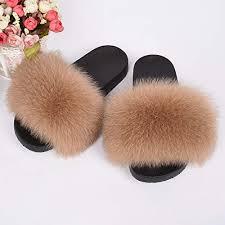 <b>Jancoco Max</b> Real Fox Fur Slides for Women 66018B <b>2019</b> Furry ...