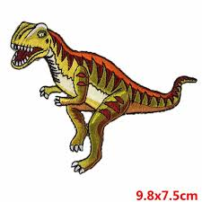 Pulaqi High Quality Jurassic Park Patches Iron on <b>Embroidered</b> ...