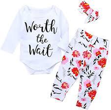 KIDSA 0-24M Newborn Baby Girl Fall Outfits Worth ... - Amazon.com