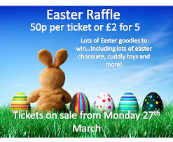 letters home the vale academy easter raffle poster