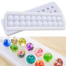 Yalulu 2Pcs Round Beads Diamond Jewelry Resin ... - Amazon.com
