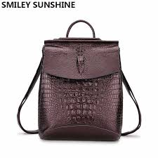High Quality <b>Genuine Leather Women Backpacks</b> Shoulder Bags ...