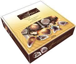 <b>Ameri Шоколадные конфеты</b>-ракушки с начинкой пралине, 250 г ...