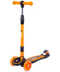 <b>Самокат 3</b>-<b>х колесный</b> 3D <b>Tiny</b> Tot 120/80 мм, оранжевый ...