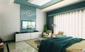 master bedroom feature wall:  white aqua blue modern bedroom