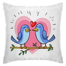 "Подушка ""Влюблённые <b>птички</b>"" #2629386 от icase - <b>Printio</b>"