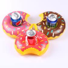 <b>3pcs</b>/<b>lot</b> Donuts Inflatable <b>Water Drink Floating</b> Cup <b>Holder</b> Circle ...