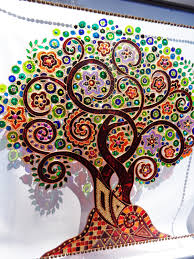 Etsy Art Tree Of Life Art 15x15 Glass Painting Wall Decor Painting Walls