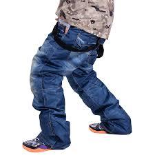 <b>Hot</b> Sale NEW Jean Snowboard Pants <b>Suspenders</b> Denim Ski Pants ...