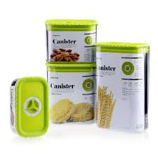 Green Kitchen Canister Set Aliexpresscom Buy 4pcs Canister Set Sealed Plastic Kitchen