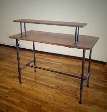 steel pipe standing desk a different approach steven slack black iron pipe table