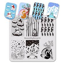 <b>BeautyBigBang 6*6cm Stamping</b> For Nails Polar Bear Fox Penguin ...
