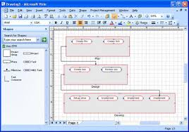 integrating visio and project visio process flow diagram
