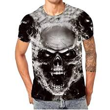 Vanvler Men [ Short Sleeve T Shirt ] Male Skull 3D ... - Amazon.com