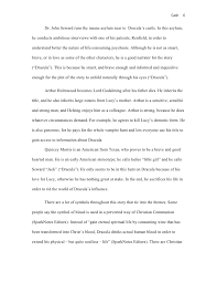 literary analysis on dracula