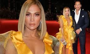 Jennifer Lopez and fiance Alex Rodriguez attend the Hustlers ...