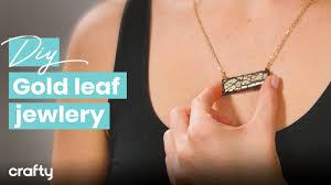 DIY <b>Gold Leaf Jewelry</b> Set - YouTube