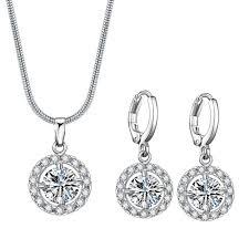 2019 Utimtree <b>Luxury</b> Crystal Bridal Jewelry Set Gifts For ...