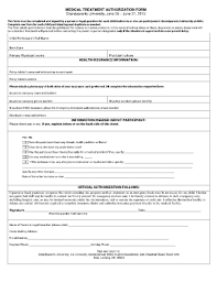 fill now permission letter for medical treatment