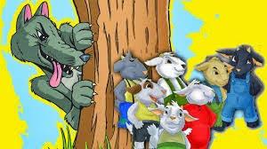Resultado de imagen de dibujos del cuento las siete cabritas y el lobo